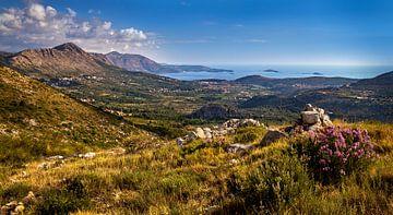 Uitzicht op de Adriatische Zee, Bosnië-Herzegovina van Adelheid Smitt
