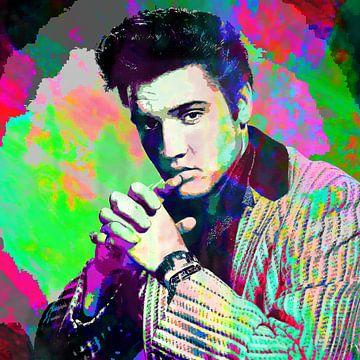 Elvis Presley Abstract Portret van