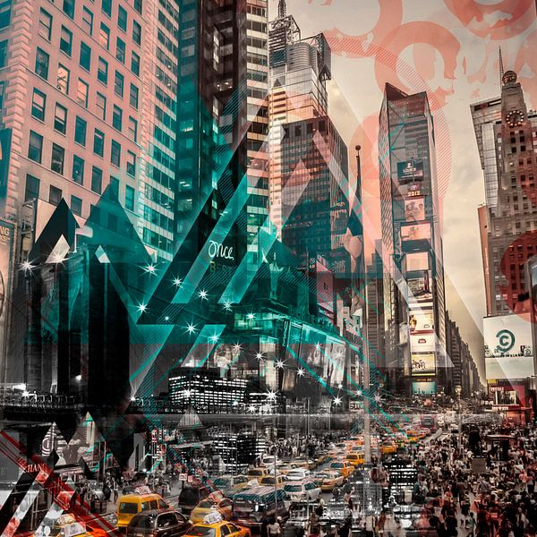 New York City | Geometric Mix No. 4 van Melanie Viola