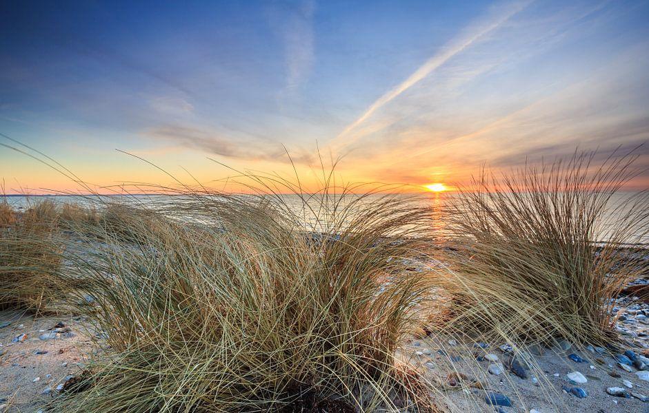 Goldener Sonnenuntergang van Werner Reins