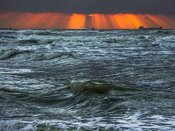 Zon en zee sur Dirk van Egmond