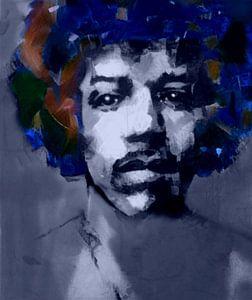 Jimi Hendrix Expressive Pop Art PUR