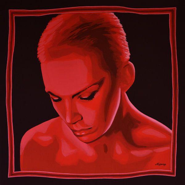 Annie Lennox of Eurythmics schilderij van Paul Meijering