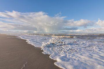 De Woeste Zee bij Kijkduin (Den Haag) van Charlene van Koesveld