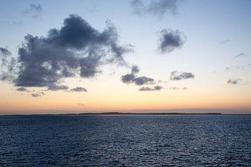 zonsondergang op het wad van Mark Scholten