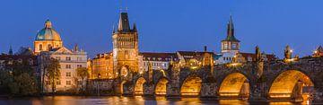 Panorama der Karlsbrücke in Prag von Henk Meijer Photography