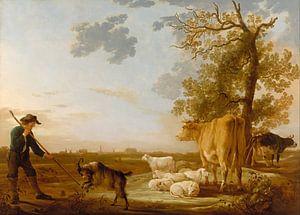 Albert Cuyp. Landschap met vee van