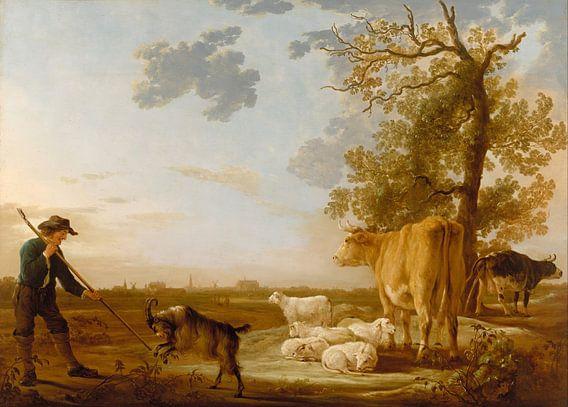Albert Cuyp. Landschap met vee van 1000 Schilderijen