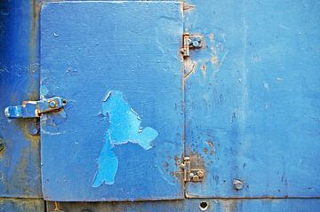Blue Excavator (Detail) van Rüdiger Hirt