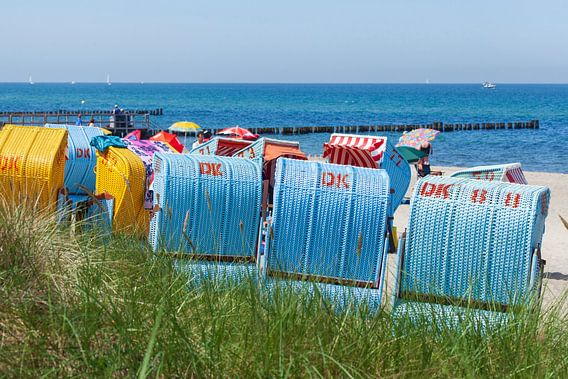 Strandkörbe,  Kühlungsborn, Mecklenburg-Vorpommern, Deutschland, Europa