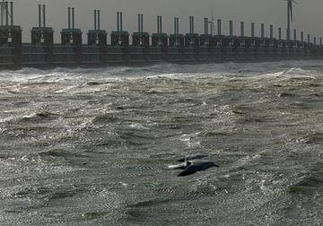 Stormvloedkering Oosterschelde van Sky Pictures Fotografie