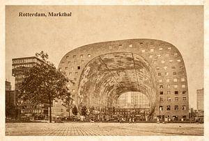 Carte postale d'époque: Markthal à Rotterdam