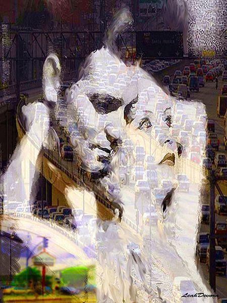 Hollywood Landscape Clark Gable Pop Art van Leah Devora