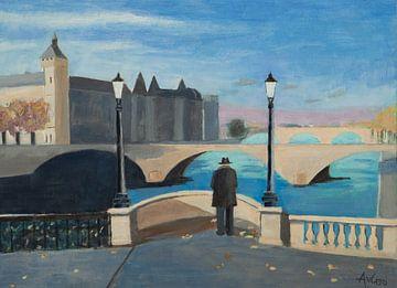 Antonie in Parijs van Antonie van Gelder Beeldend kunstenaar