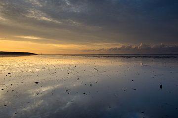 Sonnenuntergang am Wattenmeer von Willie Kamminga