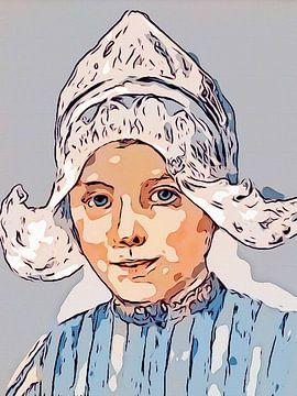 Volendam Mädchen von Hans Levendig (lev&dig fotografie)