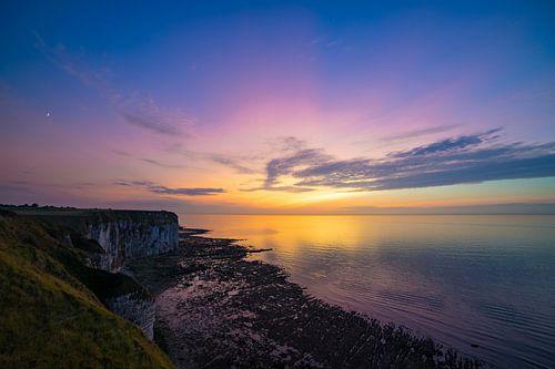 Zonsondergang in Normandië van