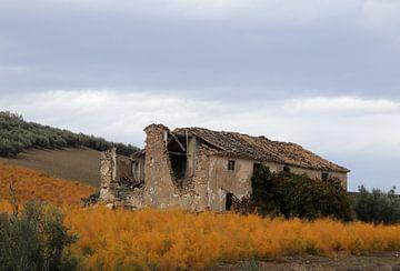 Ruïne in Andalusië van Jan Katuin
