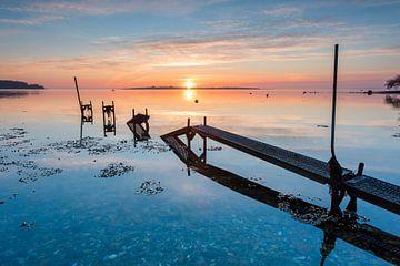 Zonsopkomst in Denemarken van Laura Vink
