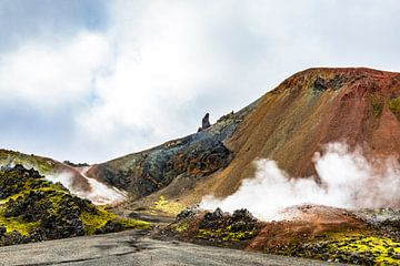 Kleurrijke bergen rond Landmannalaugar in IJsland van Sjoerd van der Wal
