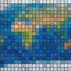 Weltkarte aus Mediterrane Fliesen von Frans Blok