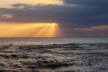 Coucher de soleil sur l'océan Atlantique en Jamaïque