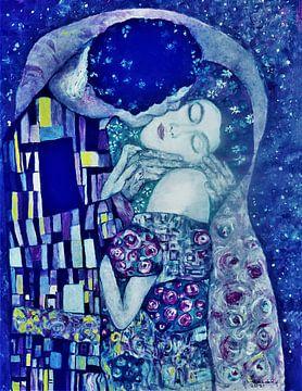 Der Kuss, inspiriert von Gustav Klimt von Ineke de Rijk