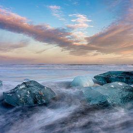 Diamond Beach, Iceland van Reinier Snijders