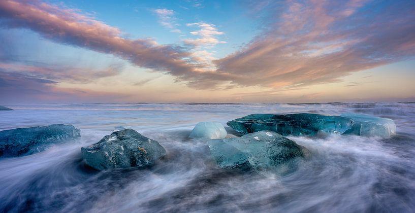 Diamond Beach, Islande sur Reinier Snijders