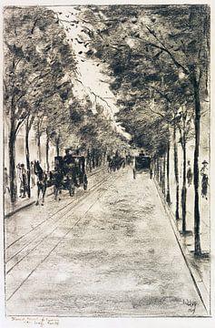 Allee im Tiergarten, Berlin, LESSER URY, 1919 von Atelier Liesjes