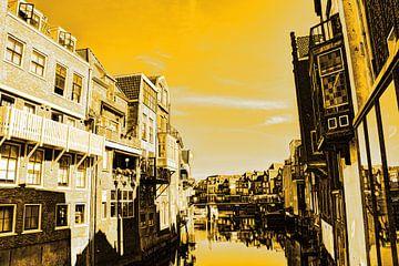 Dordrecht Wijnhaven von Scheffersplein Niederlande Gold von Hendrik-Jan Kornelis