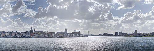 Zicht op Dordrecht en Zwijndrecht van