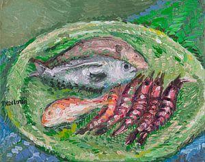 Teller mit Fisch