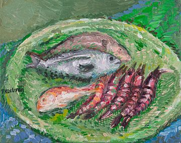 Assiette de poisson sur Tanja Koelemij