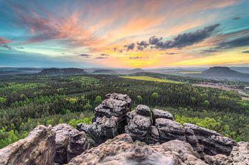 Sächsische Schweiz Aussicht vom Gohrisch sur Michael Valjak