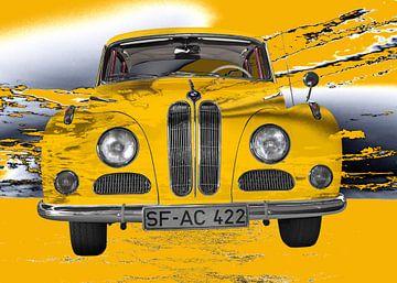BMW 502 in het geel van aRi F. Huber
