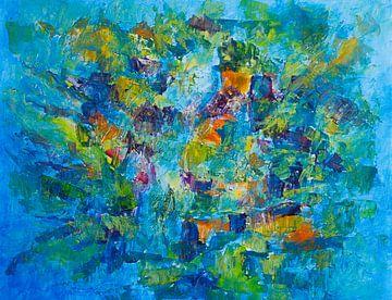 Abstract werk impressie natuur van Paul Nieuwendijk
