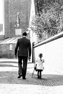 Vader en dochter portret van Cindy Langenhuijsen