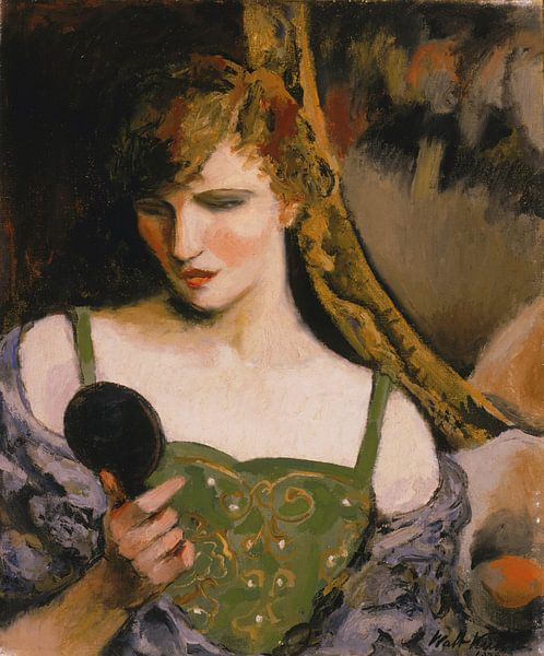 Walter Kuhn-Mädchen mit Spiegel von finemasterpiece