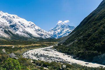 Blick auf den Mount Cook in Neuseeland von Linda Schouw