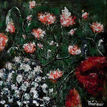 Blumenmalerei grün. von Therese Brals