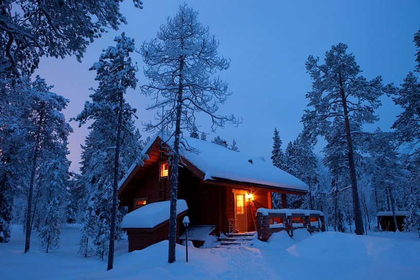 Hut in Finland van Menno Boermans