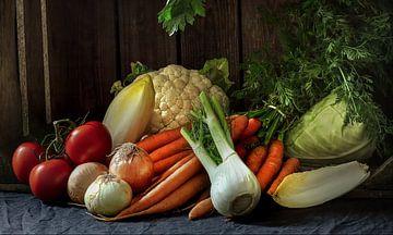 Stilleven met groenten van Jan van der Linden