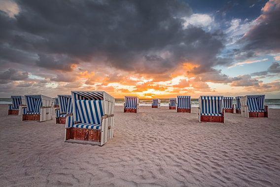 Sonnenuntergang am Roten Kliff (Kampen / Sylt) van Dirk Wiemer