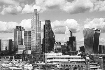Skyline Londres en noir et blanc sur Erik Juffermans