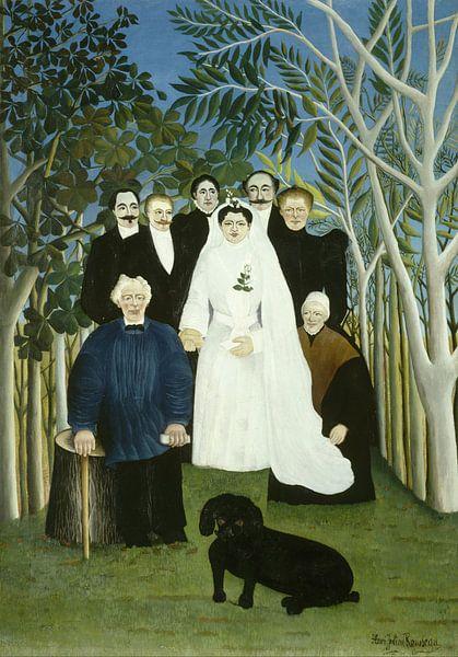 Henri Rousseau. The Wedding Party von 1000 Schilderijen