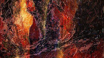Experiment in Schwarz, Rot und Gelb von Anita Snik-Broeken