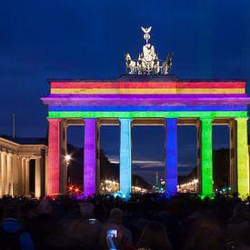 Brandenburger Tor Berlijn in speciale verlichting van Frank Herrmann