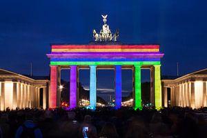 Brandenburger Tor Berlijn in speciale verlichting