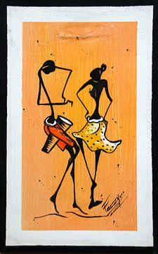 Afrikaanse dans van Cora Unk